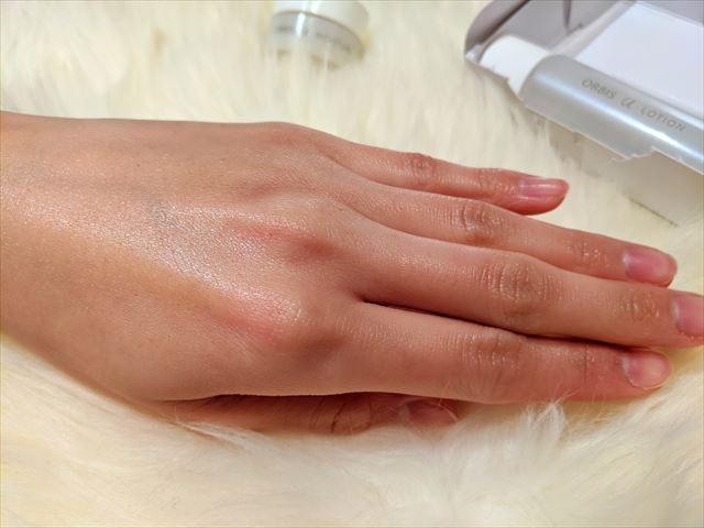 ジェル保湿液を塗った肌の画像