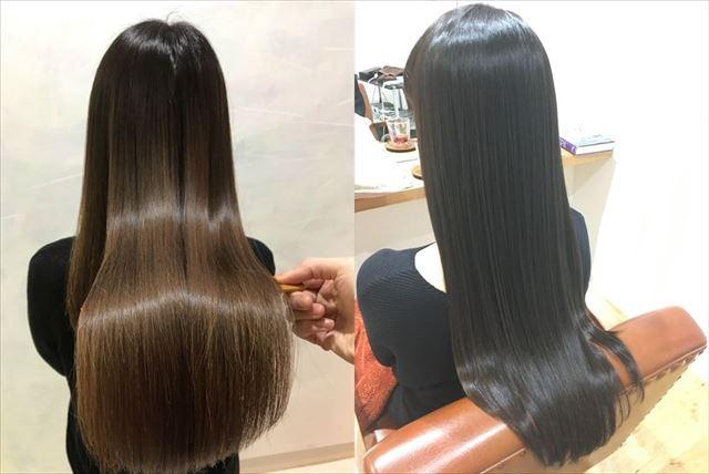 美容室でエイチツーオネストを使用した女性の髪質画像