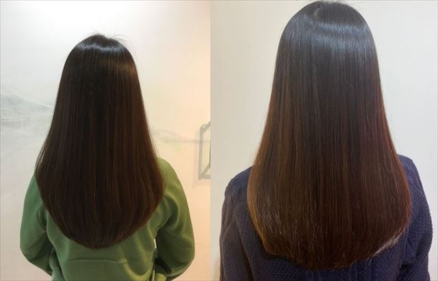 サロンで撮影したオネストの美髪画像