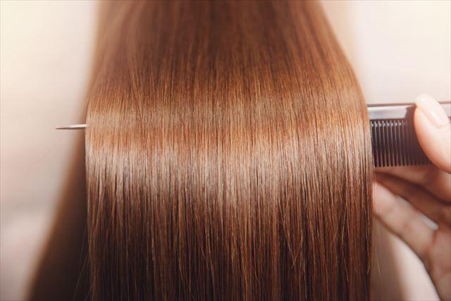 艶のある美しい髪の毛の画像