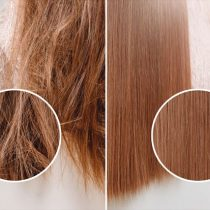 髪質改善する前とした後の比較画像